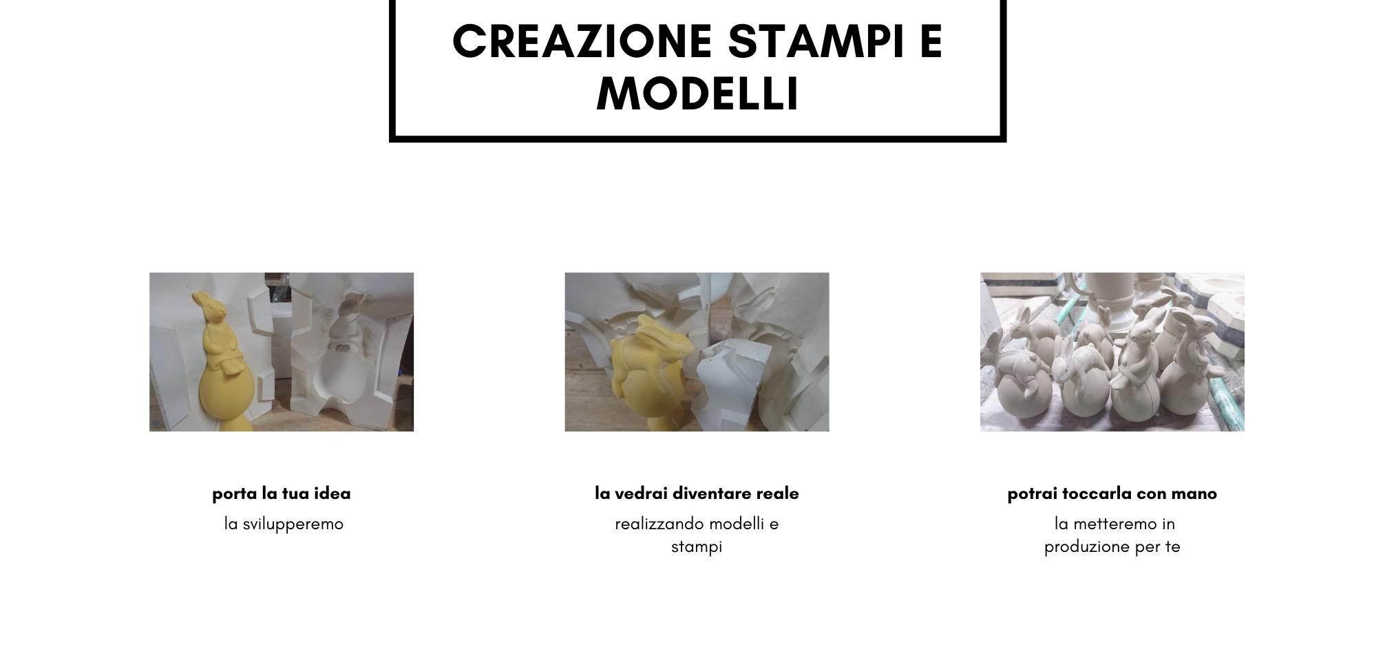 sviluppo stampi in gesso Faenza Italia
