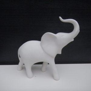semilavorato elefante proboscide in alto da decorare ceramica faenza italia