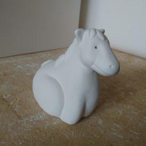 animaletto cavallo colorabile semilavorato per ceramica faenza italia