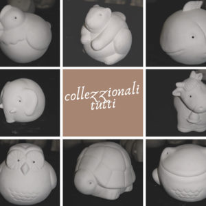 animaletti semilavorati da colorare per ceramica faenza italia